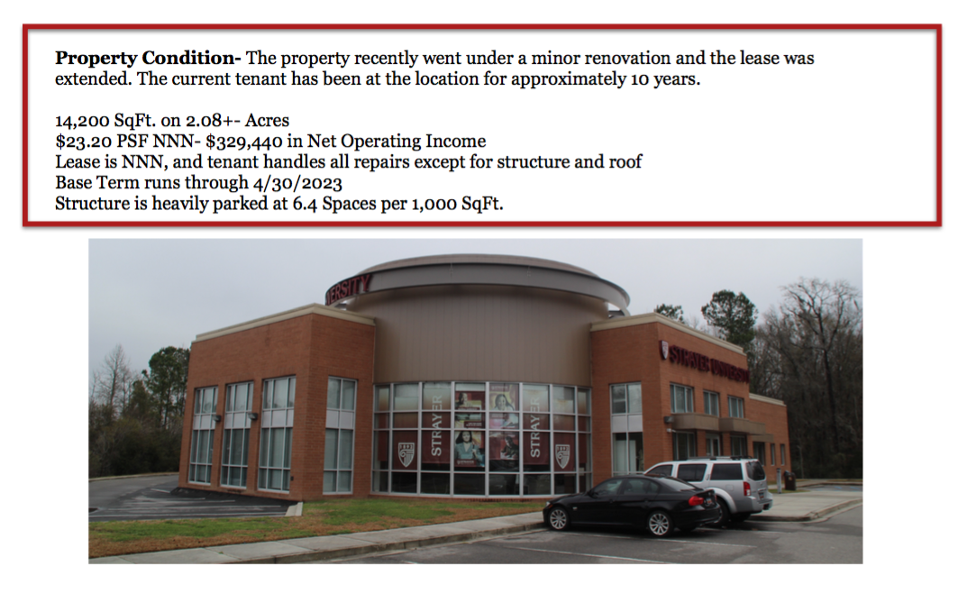 Investment Property 100% Leased North Charleston, SC 29418