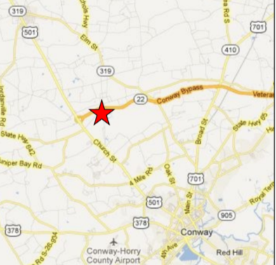 Burroughs Tract- Highway 22 & Enoch Road, High Profile Corner Conway, SC 29526